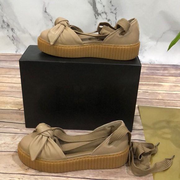 Rihanna Fenty By Puma Bow Creeper Lace Up Sandals  6ec7ead1b